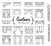 vector set with hand drawn... | Shutterstock .eps vector #430582372