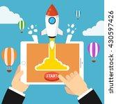 successful startup business... | Shutterstock .eps vector #430597426