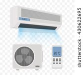 air conditioner isolated vector ... | Shutterstock .eps vector #430622695