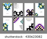 geometric vector business cards ... | Shutterstock .eps vector #430623082