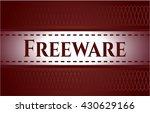 freeware banner or card | Shutterstock .eps vector #430629166