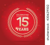 15 years anniversary badge on... | Shutterstock .eps vector #430629502