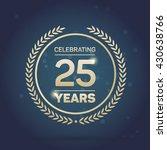 25 years anniversary badge on... | Shutterstock .eps vector #430638766