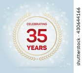 35 years anniversary badge on... | Shutterstock .eps vector #430644166