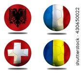 Small photo of Soccer Euro 2016 ( Football ) Romanian, Switzerland Albanian and France
