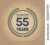 55 years anniversary badge on...   Shutterstock .eps vector #430654795