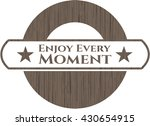 enjoy every moment retro wood... | Shutterstock .eps vector #430654915