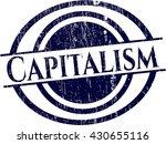 capitalism rubber stamp | Shutterstock .eps vector #430655116