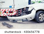 truck and car crash collision... | Shutterstock . vector #430656778