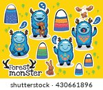 vector sticker set with cute... | Shutterstock .eps vector #430661896