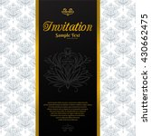 vintage background  invitation... | Shutterstock .eps vector #430662475