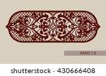 floral ornament. vintage style. ... | Shutterstock .eps vector #430666408