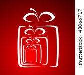 stylized gift vector | Shutterstock . vector #43066717