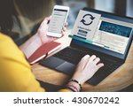 software update installation... | Shutterstock . vector #430670242