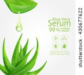 aloe vera serum and collagen... | Shutterstock .eps vector #430677622
