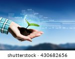 nature and technology... | Shutterstock . vector #430682656