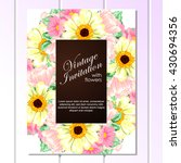 invitation with floral... | Shutterstock .eps vector #430694356