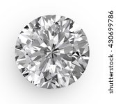 diamond in top view close up... | Shutterstock . vector #430699786
