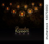 ramadan kareem. beautiful... | Shutterstock .eps vector #430703002