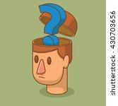 vector cartoon image of the... | Shutterstock .eps vector #430703656