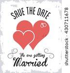 married design. wedding icon.... | Shutterstock .eps vector #430711678