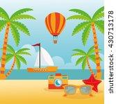 summer design. holidays icon.... | Shutterstock .eps vector #430713178