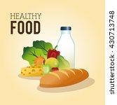 healthy food design. organic... | Shutterstock .eps vector #430713748