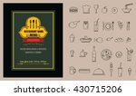 restaurant food menu on... | Shutterstock .eps vector #430715206