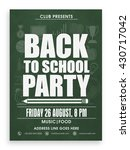 back to school party template ... | Shutterstock .eps vector #430717042