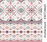 pastel multicolor tribal navajo ... | Shutterstock .eps vector #430718665
