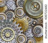 metallic gears background 3d   Shutterstock . vector #430722682