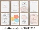 corporate identity vector... | Shutterstock .eps vector #430730956