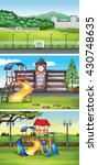 different scenes with lawn... | Shutterstock .eps vector #430748635