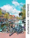 Amsterdam Street Scene. Old...
