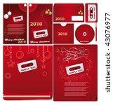 christmas  set  background for... | Shutterstock .eps vector #43076977