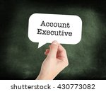 Small photo of Account Executive written in a speechbubble