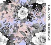 watercolor seamless pattern... | Shutterstock . vector #430777846