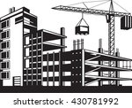 building in various stages of... | Shutterstock .eps vector #430781992