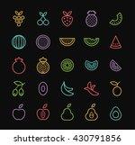 set of elegant universal... | Shutterstock .eps vector #430791856