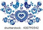 folk ornaments simplified folk... | Shutterstock .eps vector #430793542