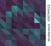 cyan purple triangle grid... | Shutterstock .eps vector #430799512