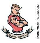 vector mascot of man barbershop ... | Shutterstock .eps vector #430800982