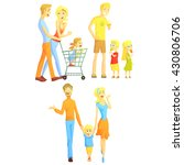 family weekend illustration of... | Shutterstock .eps vector #430806706