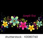 flower background design | Shutterstock .eps vector #43080760