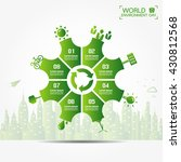 infographics environment design ... | Shutterstock .eps vector #430812568