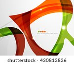 leaf shape wave abstract...   Shutterstock .eps vector #430812826