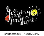 you are my sunshine inscription ... | Shutterstock .eps vector #430820542