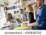 business people working... | Shutterstock . vector #430828702