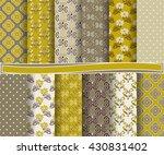 set of abstract vector paper... | Shutterstock .eps vector #430831402