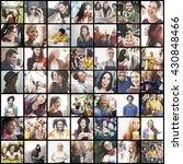 diversity diverse ethnic... | Shutterstock . vector #430848466
